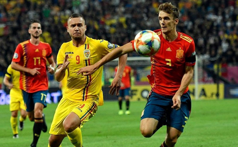 România, învinsă acasă de Spania cu 2-1, în preliminariile EURO 2020.