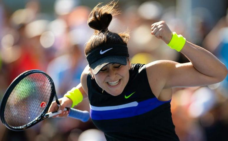 Jucătoarea canadiană de origine română Bianca Andreescu.