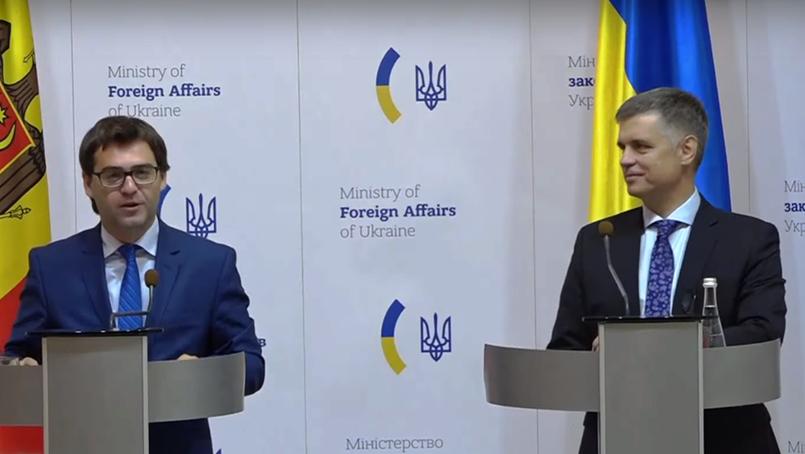 Nicu Popescu la intrevederea cuVadym Prystaiko, Kiev, 09.09.2019
