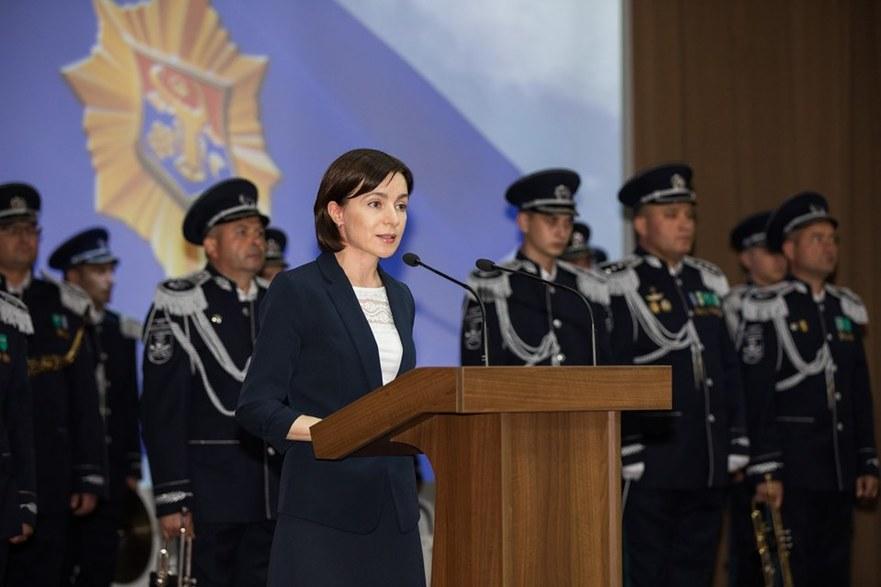 Maia Sandu,la şedinţa consacrată aniversării a 28-a de la crearea organelor securităţii R.Moldova