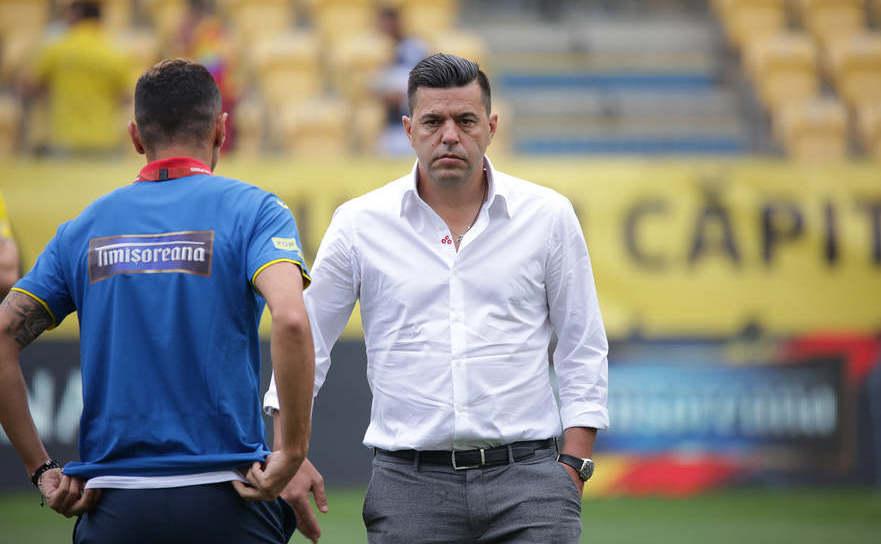 Selecţionerul echipei naţionale de fotbal a României, Cosmin Contra.