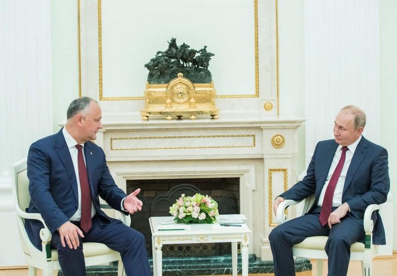 Igor Dodon şi Vladimir Putin, la Moscova