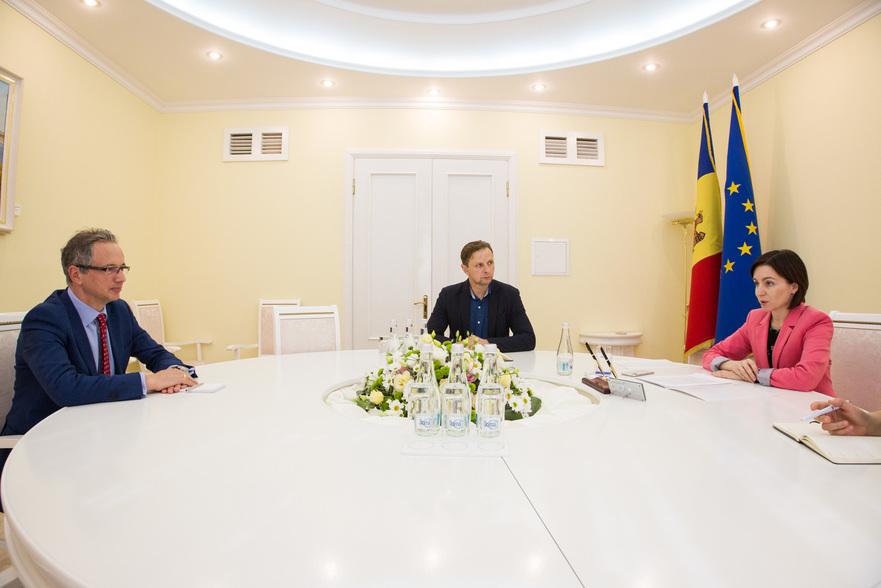 Maia Sandu la intrevedere cuşeful misiunii OSCE în Moldova, Claus Neukirch, 11.09.2019