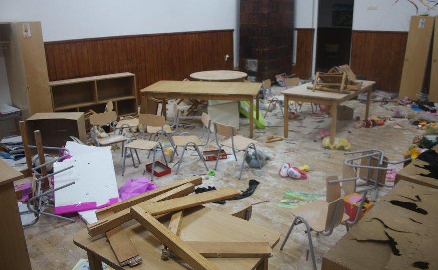 Şcoala din Clejani, devastata de trei minori.