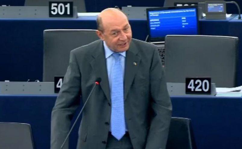 Traian Băsescu în Parlamentul European