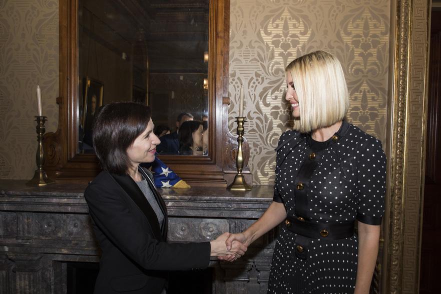 Maia Sandu la intrevedere cu Ivanka Trump