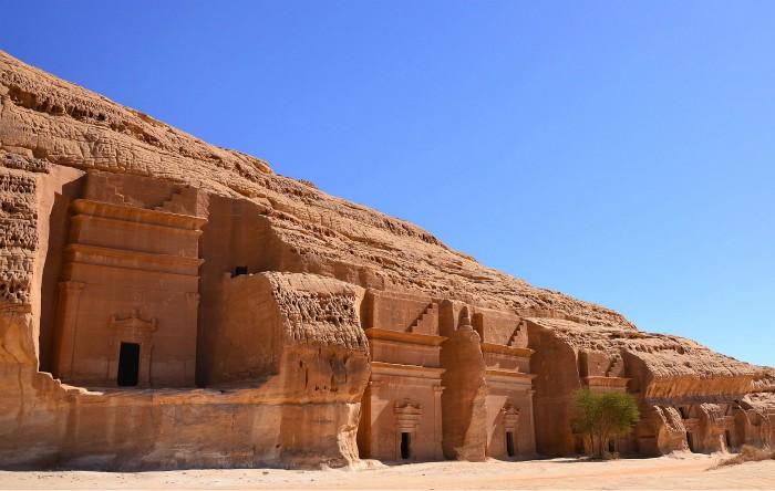 Mada'in Saleh,cel mai mare sit arheologic nabateean aflat la sud de Petra, Arabia Saudită