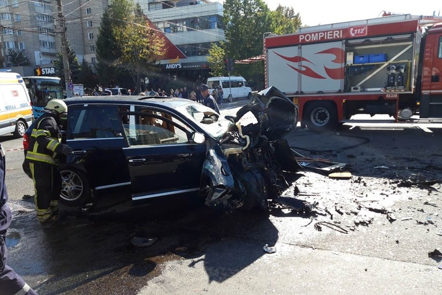 Accidentul rutier str. Alba Iulia, mun. Chişinău, 30.09.2019