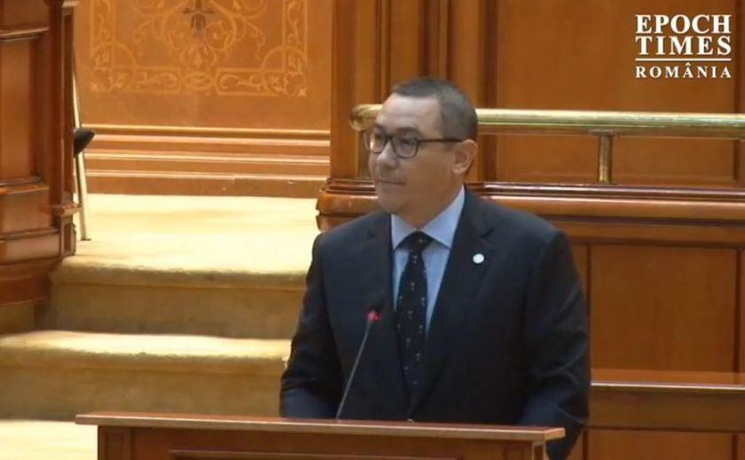 Victor Ponta în Parlament, 10 octombrie 2019