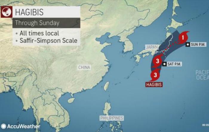 Taifunul Hagibis în Japonia