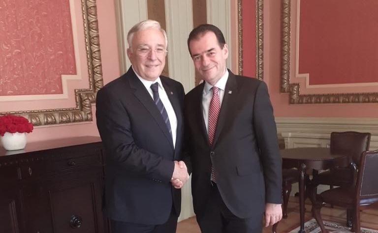 Presedintele PNL Ludovic Orban, intalnire cu Guvernatorul BNR Mugur Isarescu.