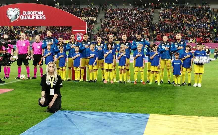 Echipa naţională de fotbal a României.