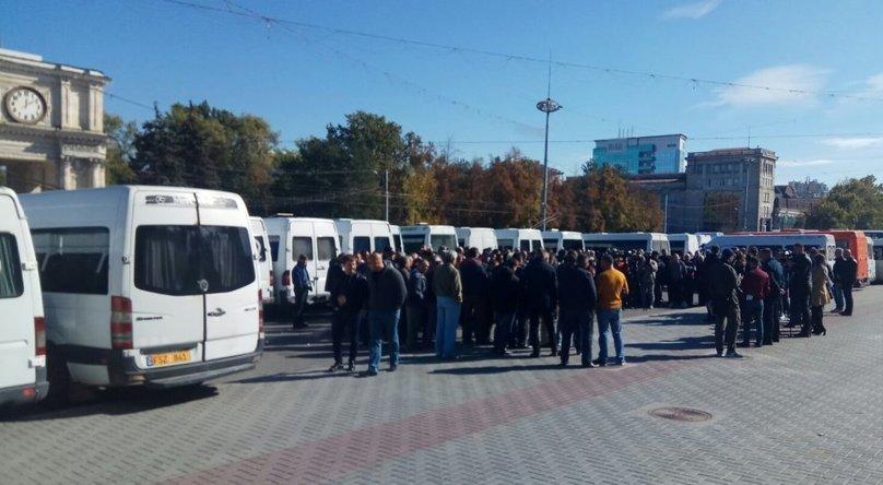 Protestul transportatorilor din R. Moldova, 09.10.2019