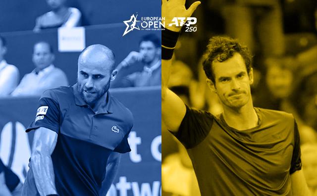 Jucătorul român de tenis Marius Copil şi britanicul Andy Murray.
