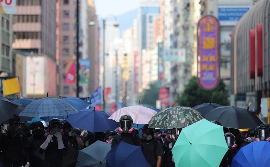 Hong Kong - război urban împotriva comunismului chinez