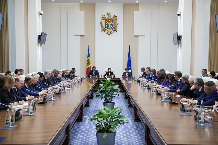 Maia Sandu, la întâlnirea cu ambasadorii străini în R. Moldova