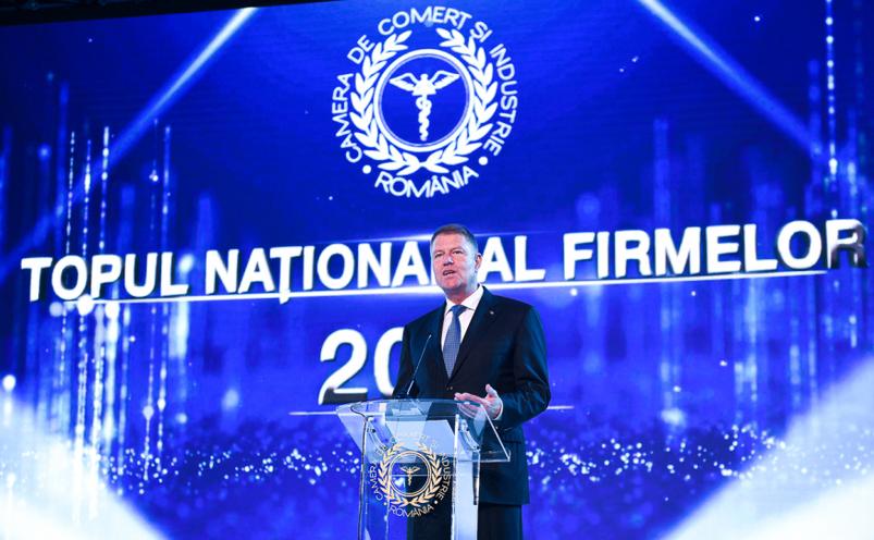 Preşedintele Klaus Iohannis prezent Gala Topului Naţional al Firmelor Private din România, 7 noiembrie 2019