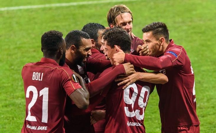 CFR Cluj trece dramatic de Rennes, cu 1-0, în Europa League.