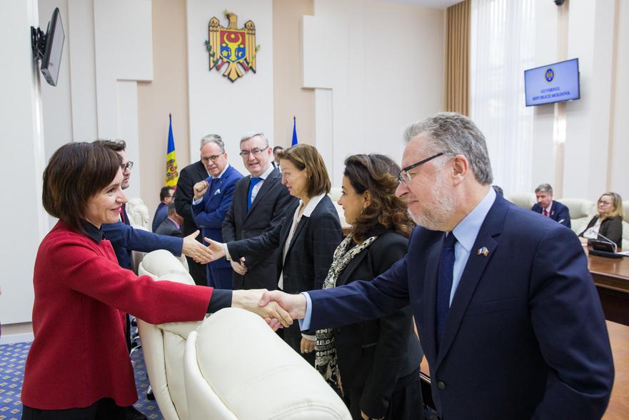 Maia Sandu la întâlnire cu ambasadorii acreditaţi la Chişinău, 13.11.2019