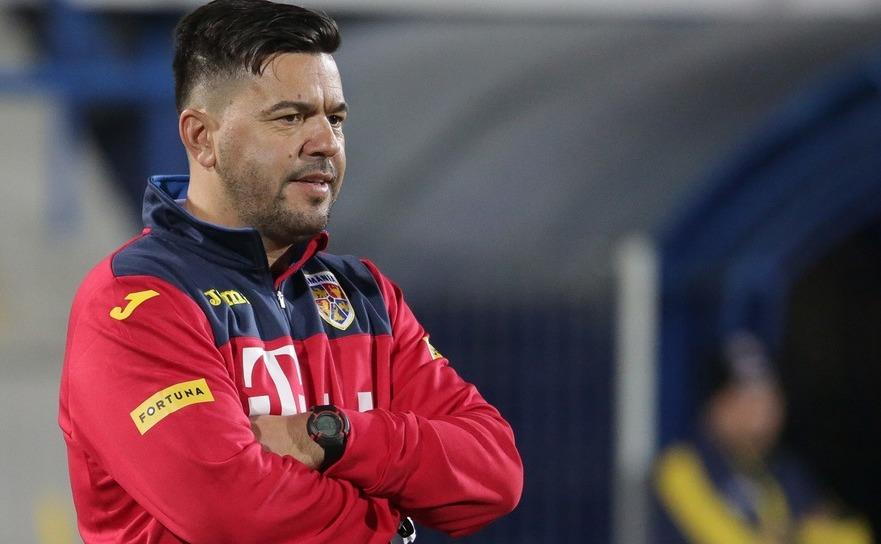 Selecţionerul primei reprezentative de fotbal a României, Cosmin Contra.