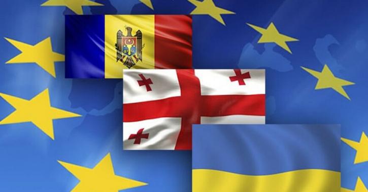 Steagurile R. Moldova, Georgiei şi Ucrainei