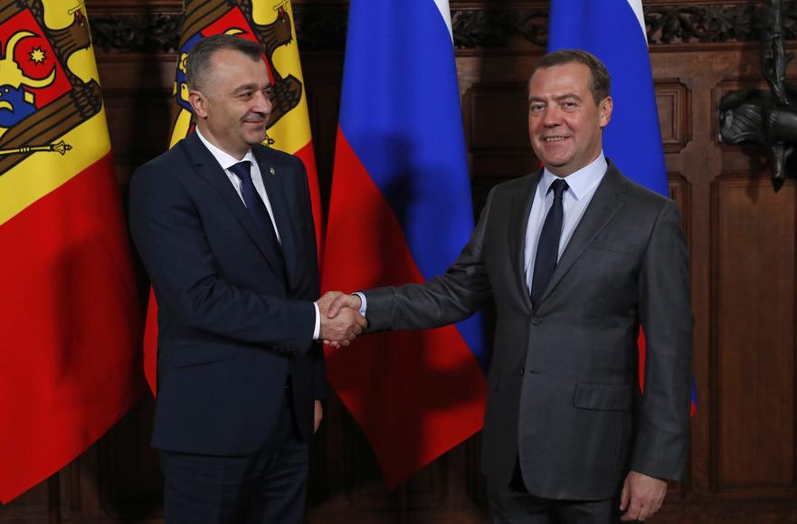 Ion Chicu la intrevedere cu Dmitri Medvedev, 20.11.2019