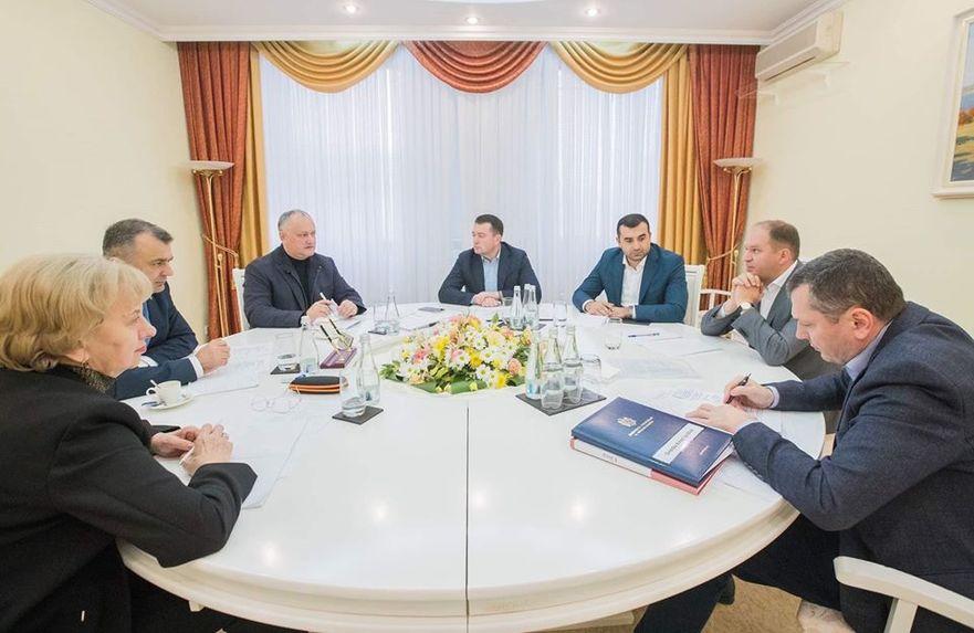 I. Dodon la întâlnire cu Z. Greceanîi, I. Chicu, I. Ceban şi miniştri din noul guvern, 23.11.2019