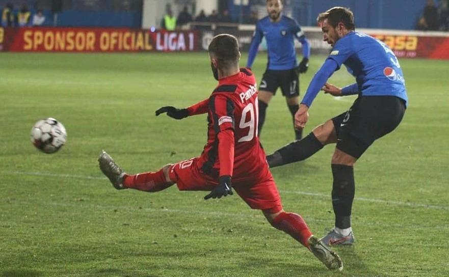 FC Viitorul - Astra Giurgiu 0-1, în etapa a 19-a a Ligii I de fotbal.