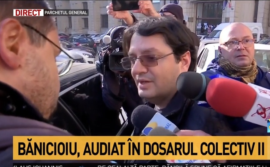 Nicolae Bănicioiufostul ministru al Sănătăţiisi Mihai Grecea supravieţuitor Colectiv (stanga)