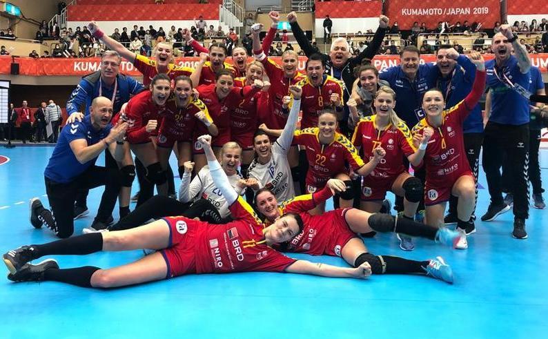 România - Ungaria 28-27  (10-16), vineri, la Yatsushiro, în  ultimul joc din Grupa C a Campionatul Mondial din Japonia.