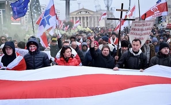 Demonstraţii la Minsk împotriva integrării cu Rusia