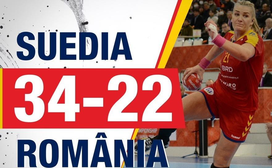 Suedia - România 34-22 (14-9), în Grupa  principală II a Campionatul Mondial din Japonia.