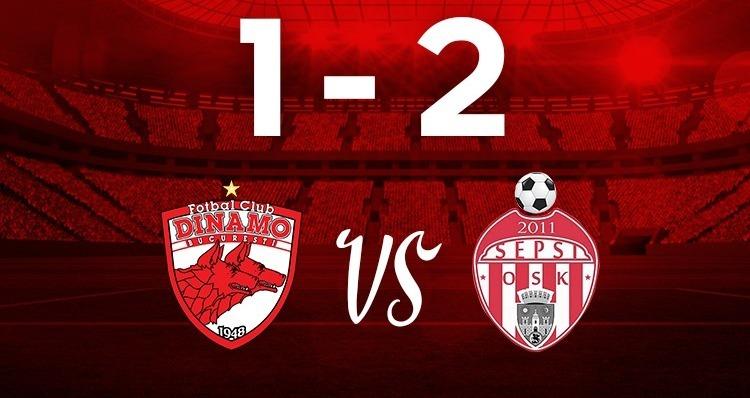 Dinamo Bucureşti - Sepsi OSK Sfântu Gheorghe 1-2 în etapa a 21-a  a Ligii I de fotbal.