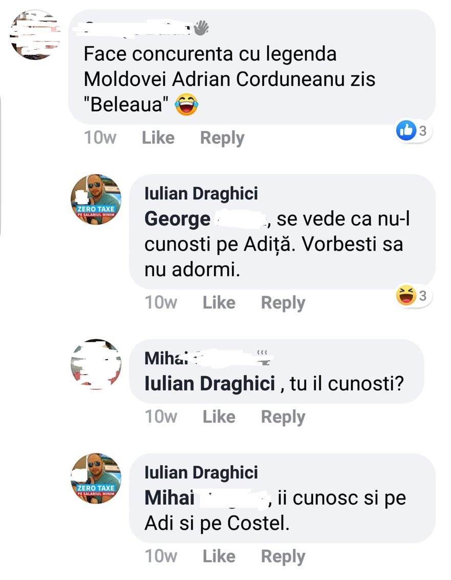 """Draghici se lauda ca ii cunoaste pe """"Adita"""" si Costel Corduneanu"""