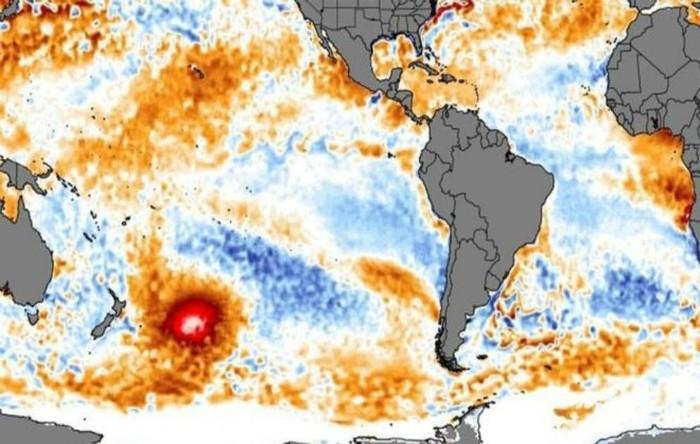 """""""Hot blob"""" în Pacificul de Sud"""