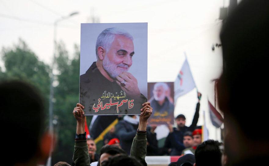 Irakieni comemorează liderul trupelor paramilitare iraniene gen. Qasem Soleimani, omorât de un raid american în Bagdad