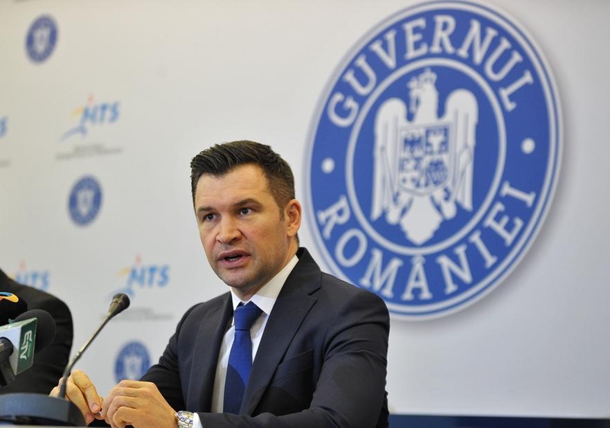 Ministrul Tineretului şi Sportului, Ionuţ Stroe.