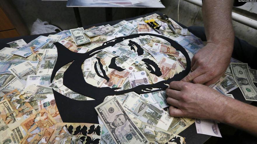 Putin - o instalaţie a artistului rus Vasili Slonov