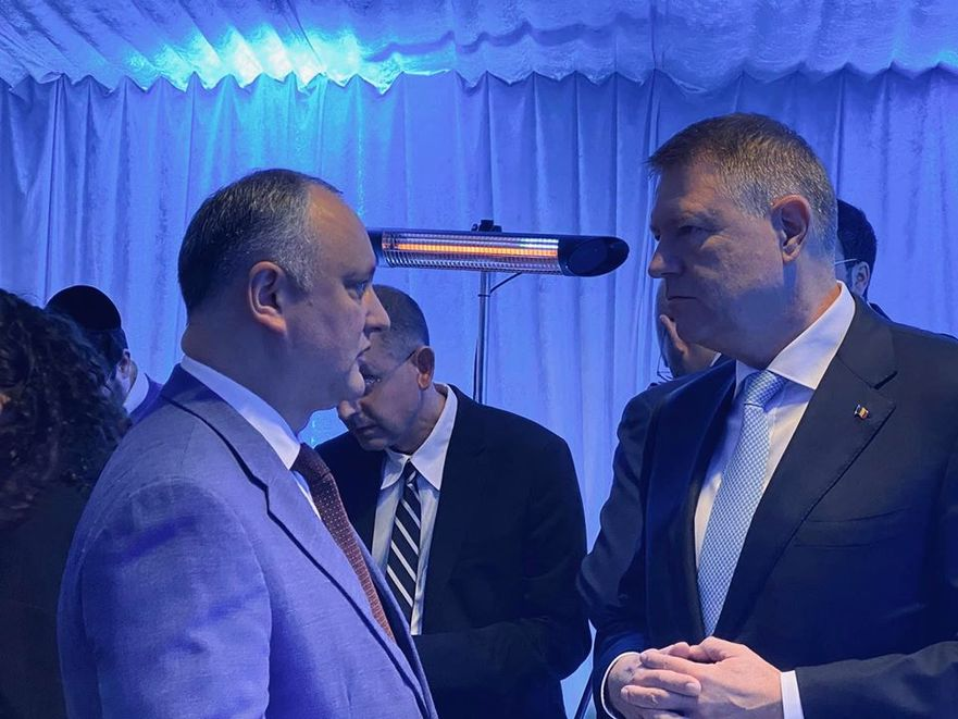 Igor Dodon şi Klaus Iohannis la Israel