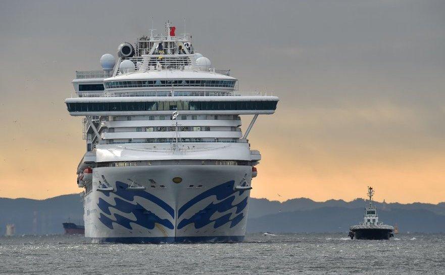 Vasul de croazieră Diamond Princess în Yokohama, Japonia, 6 februarie 2020