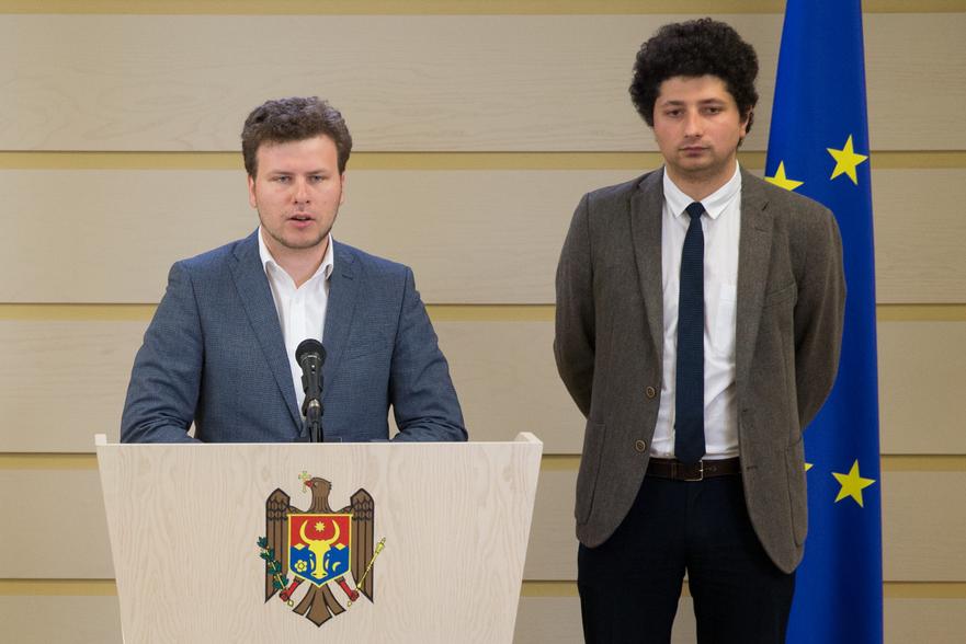 Dan Perciun şi Radu Marian, deputaţi PAS în Parlamentul R. Moldova