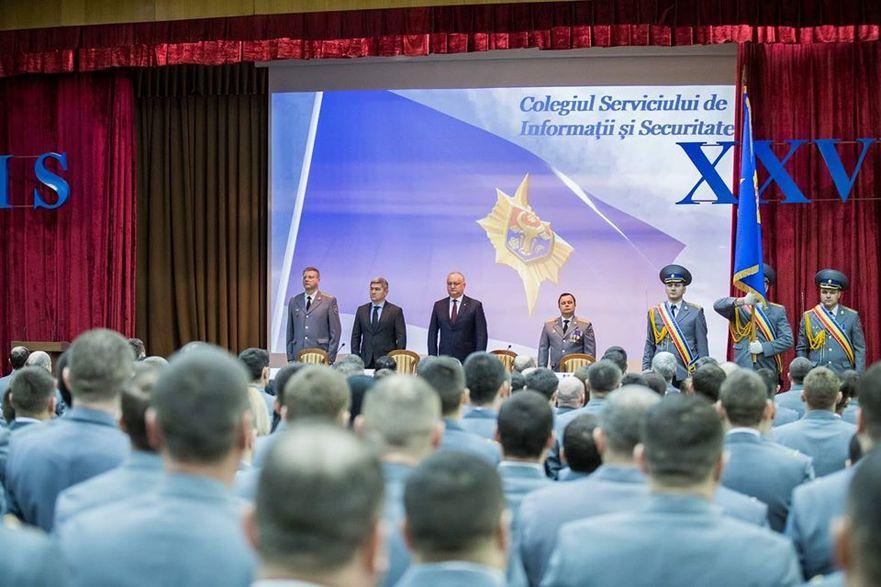 Igor Dodon la şedinţa lărgită a Colegiului SIS de la Chişinău