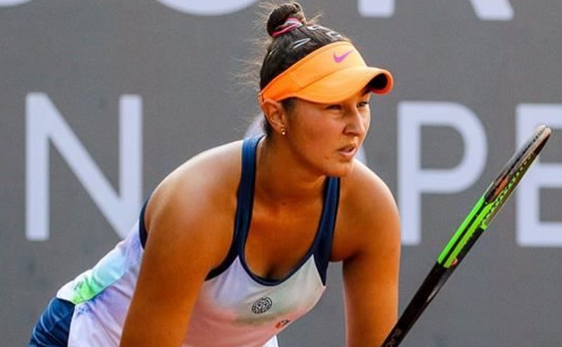 Jucătoarea română de tenis Ilona Ghioroaie.