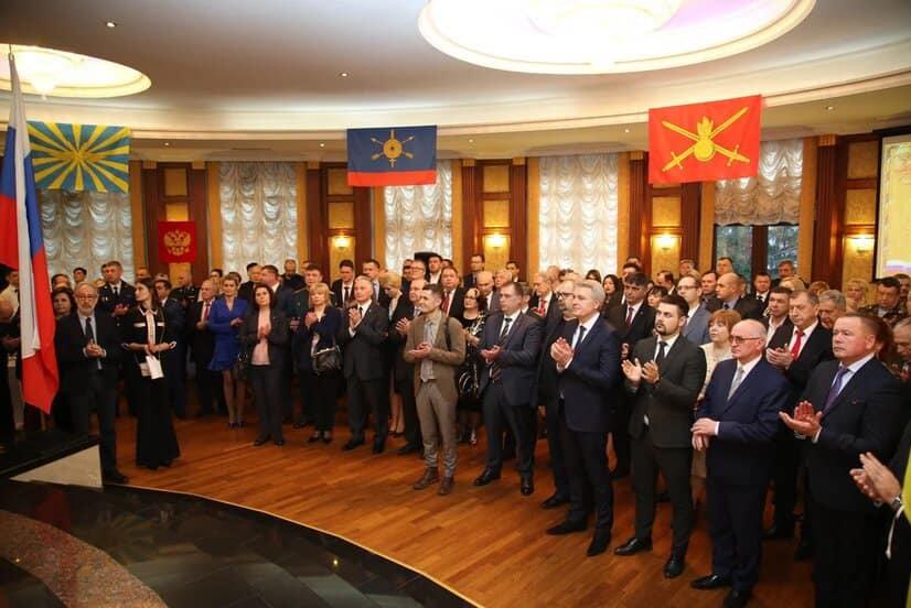 Oficiali de la Chişinău şi Tiraspol sărbătoresc ziua armatei sovietice organizate de Ambasada Rusiei