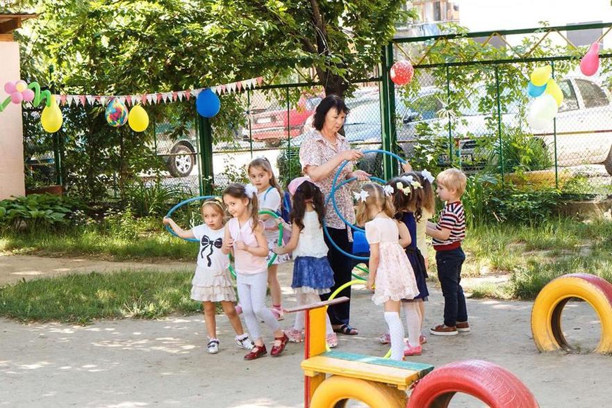 Copii la grădiniţă