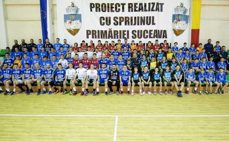 Echipa masculină de handbal CSU Suceava.