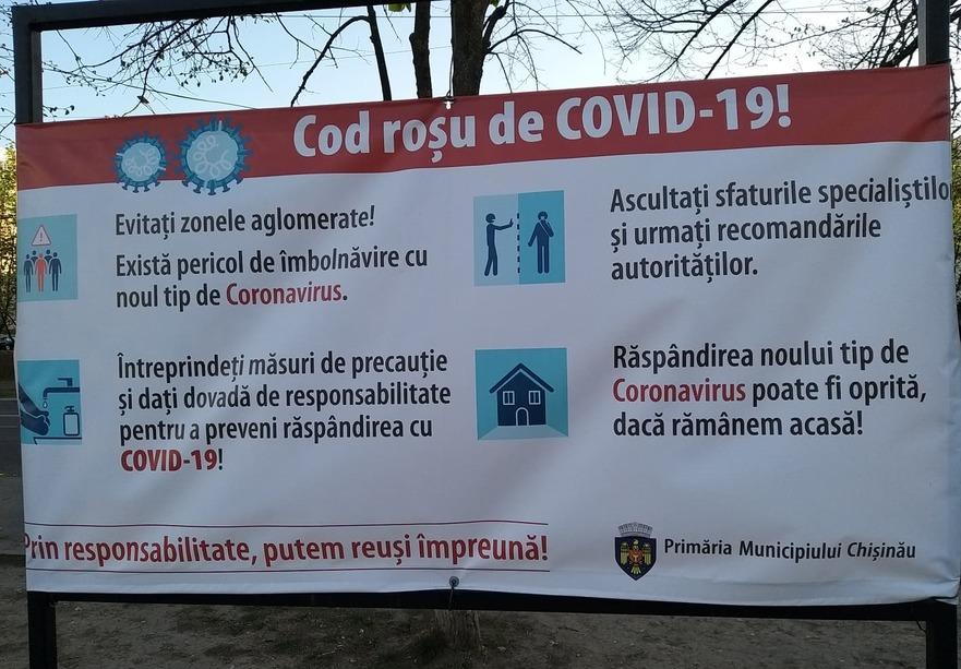 Panou publicitar la Chişinău