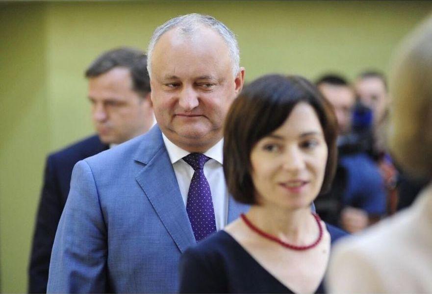 Igor Dodon şi Maia Sandu