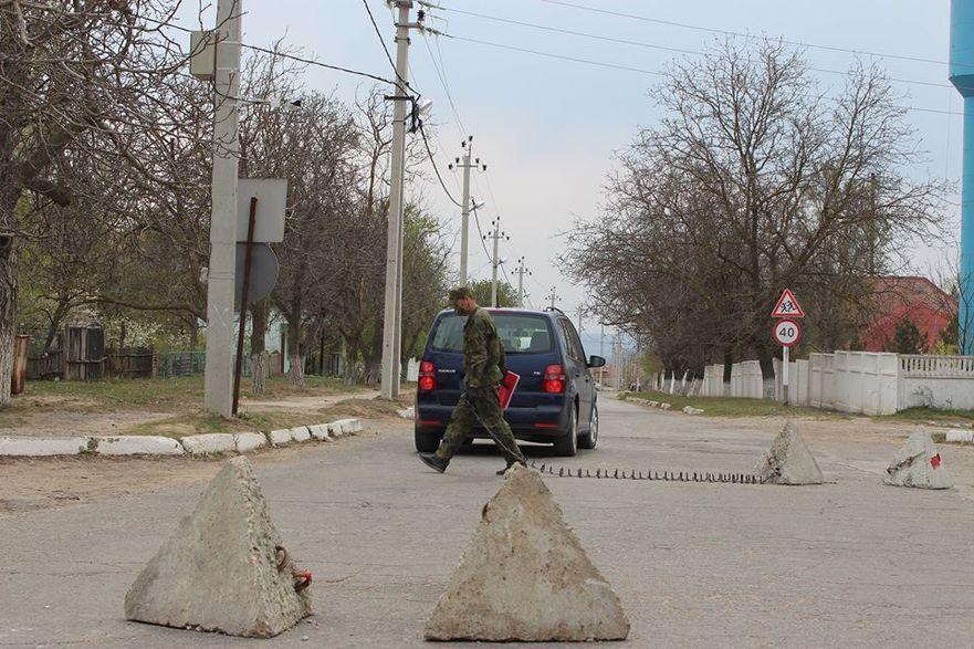 Post de control dintre satele Cocieri şi Corjova - Transnistria