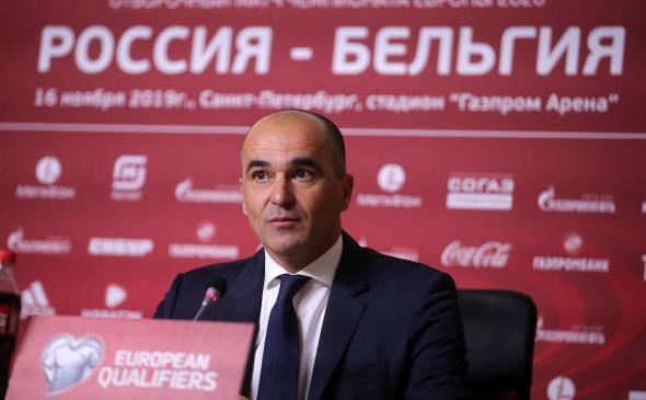 Selecţionerul echipei  naţionale de fotbal a Belgiei, Roberto Martinez.
